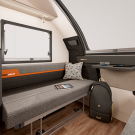 Fold Away Seating With Travel Anchor Points