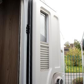 Upgraded Door with Window and Blind