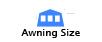 Awning size